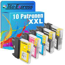 10x Tinten-Patrone XXL für Brother MFC-6890 MFC490CW MFC5890CN MFC-5895CW LC1100