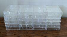 Lot 24 Empty Clear Square Edge Audio Cassette Tape Cases