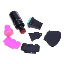 7X Large Small Scraper Nail Art Stamping Plate & Double Ended Stamper Image Tool