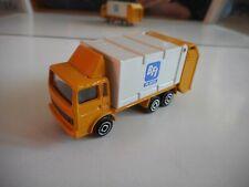 "Majorette Saviem Garbage Truck ""BFI"" in Yellow/White"