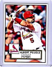 2020 Albert Pujols Cardinals Baseball 1/1  Art ACEO Blue Sketch Print Card By:Q