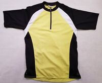 """Unisex Sports Cycling Jersey Size L 40"""" Racing Shirt Lime Green Black Grey"""