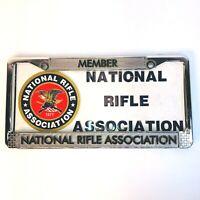 VTG National Rifle Association Silver Metal License Plate Frame & License Plate