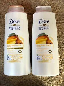 2 ~ DOVE ~ Shine & Smoothness ~ Shampoo & Conditioner w/ MANGO BUTTER  20.4 Oz