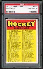 1971 72 OPC O-Pee-Chee Checklist Card # 111 1st series psa 8 nm-mt beauty rare