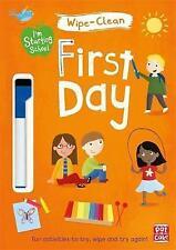 Primer día: de fácil limpieza libro con Bolígrafo (soy que comienza la escuela) por Pat-a-Cake | paperb