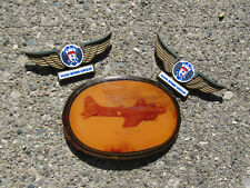 VINTAGE LOT BELT BUCKLE BOMBER AND STOFFEL SEALS 100TH BOMB GROUP WINGS