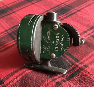 """Johnson """" The Century"""" Model 100A Vintage Spin Casting Fishing Reel"""
