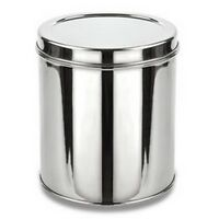 Stainless Steel Storage Box For Grain & Flour Kitchen Dabba Canister Container