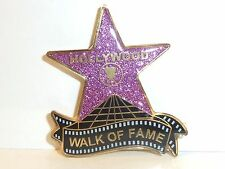 """HOLLYWOOD STAR WALK OF FAME SOUVENIR GLITTERY SPARKLE MAGNET 2"""" BY 1.5"""" PINK"""