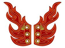 Shwings - Wings For Your Trainers - Red Foil Flames