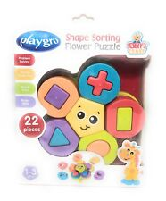 Playgro 6385461 Shape Sorting Flower Puzzle STEM Toy for Baby Toddler NIB