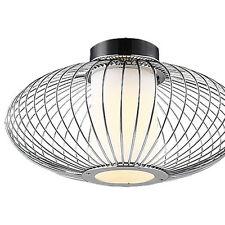 NEU Moderne Deckenleuchte Deckenlampe Metall Chrom Glasschirm RBL2813