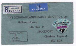 1972 Port loko Sierra Leone Adhesives Registered Cover - Air Mail