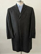 38R Green Fleck NOS Vintage 50s 60's Tweed Over Coat Trench Topcoat Wool donegal
