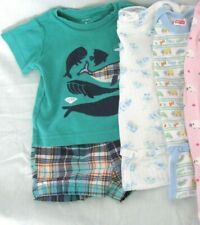 BABY CLOTHES OUTFITS  ONE PIECE LOT OF 3 BOYS 6-9 MOS EXCELLENT CONDITION USED