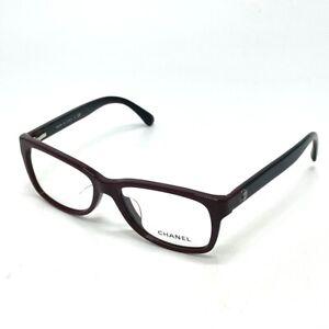 CHANEL 3314-A Eyewear Glasses Frame Plastic Bordeaux