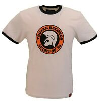 Trojan Records Mens Ecru Spirit of 69 100% Cotton Peach T-Shirt