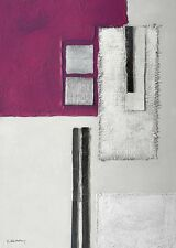 K. kostolny: morado Elements II Imagen TERMINADA 50x70 Mural Abstracto Moderno