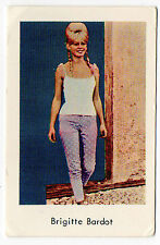1960s Swedish Film Star Card Star French Sex Symbol Brigitte Bardot