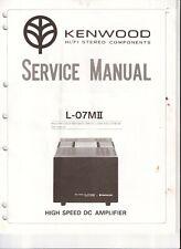 Kenwood L-07M II DC power amp. Original Service Manual. Money Back Guarantee
