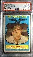 1959 Topps #568 Gus Triandos All Star Baltimore Orioles PSA 8