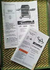 KENMORE LP Gas Barbecue BBQ Grill Owner's Manual 415.156000 SEARS 4638008 (1999)