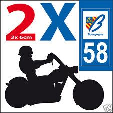 2 adesivi stile adesivi targa moto Dipartimento 58