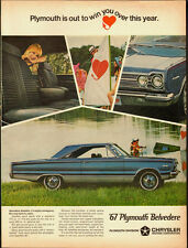 Vintge ad for '67 Plymouth Belvedere/Chrysler/Blue (051813)