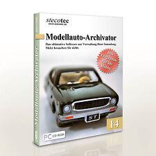 Stecotec Modellauto-Archivator 14 [CD-VERSION] Software / Programm für Sammler