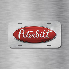Peterbilt Vehicle Front License Plate Auto Car NEW Tag Semi Truck