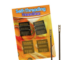 48 PACK SELF THREADING NEEDLES KNITTING ASSORTED SIZE HAND SEWING THREAD EASY UK