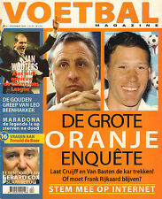 MAGAZINE VOETBAL 1999 nr. 04 - JAN WOUTERS/FRÄSER/MARADONA/RONALD DE BOER/ORANJE