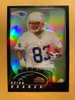 2002 Topps Chrome Deion Branch Black Refractor Rookie Card 009/100 #264 - RARE!