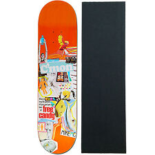 "Girl Skateboard Deck Mish Mosh Mike Mo (Ast clrs) 8.0"" with Grip"