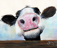 NOSEY COW PRINTS of Original Watercolour Painting HEY! HOW'S IT GOIN'? SHIRLEY M