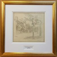 Mulberry Walk Chelsea. Drawing by listed artist Eric Hesketh Hubbard RBA c1925