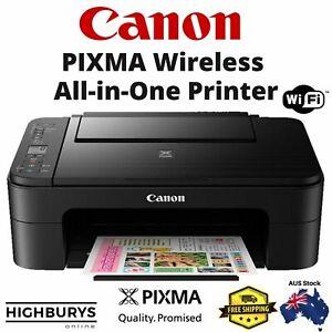 Canon Wireless Pixma TS3160 Printer Student Home Office Print Photo Scan Copy