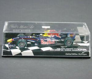 410100105 Minichamps 1:43 S.Vettel Red Bull Racing Renault RB6 Abu Dhabi GP 2010