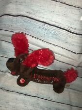 """Dandee 12"""" Plush Weiner Dog I Love You This Much Musical What I Like About You"""