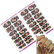 2 Fogli Adesivi Nail Art Unghie Decal Transfer Stickers Water Fiori Manicure Acc