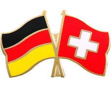 Freundschaftspin Deutschland und Schweiz Anstecker Anstecknadel Fahne Doppelpin