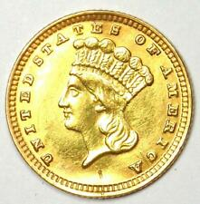 1883 Indian Dollar Gold Coin (G$1) - AU Details - Rare Date Coin - Low Mintage!