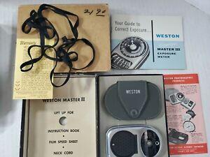 Vintage Weston Master III Universal Exposure Meter w/ box