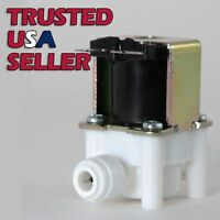 "1/4"" Plastic Push In Quick Connect Solenoid Valve 12 Volts DC or 120V AC"