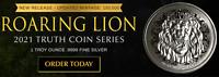 2021 Niue 2 Dollars Roaring Lion Judah Silver 999 1 oz BU Coin Truth Coin Series