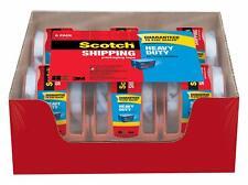 """Scotch Heavy Duty Shipping Packaging Tape Clear 2x800"""" 6 Rolls w Dispenser 142-6"""
