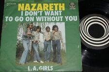 NAZARETH I don't want to go on without you / Austria SP VERTIGO SWIRL 6078249