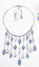 Kenenth Cole 'Moonstone Eclipse' Blue Stone Drop Bib Necklace $85 NEW