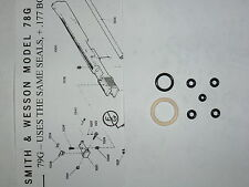 Smith & Wesson 78G 79G CO2 O-Ring seal Kit + Exp View + Parts List + Seal Guide